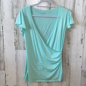 Lilly Pulitzer | Deep V Neck Wrap Blouse